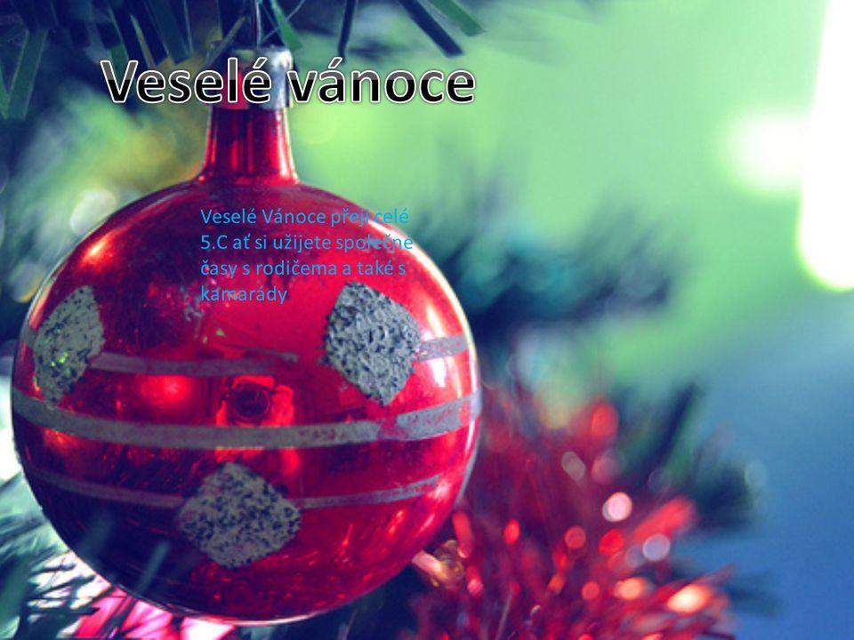 Veselé vánoce Veselé Vánoce přeji celé 5.C ať si užijete společné časy s rodičema a také s kamarády