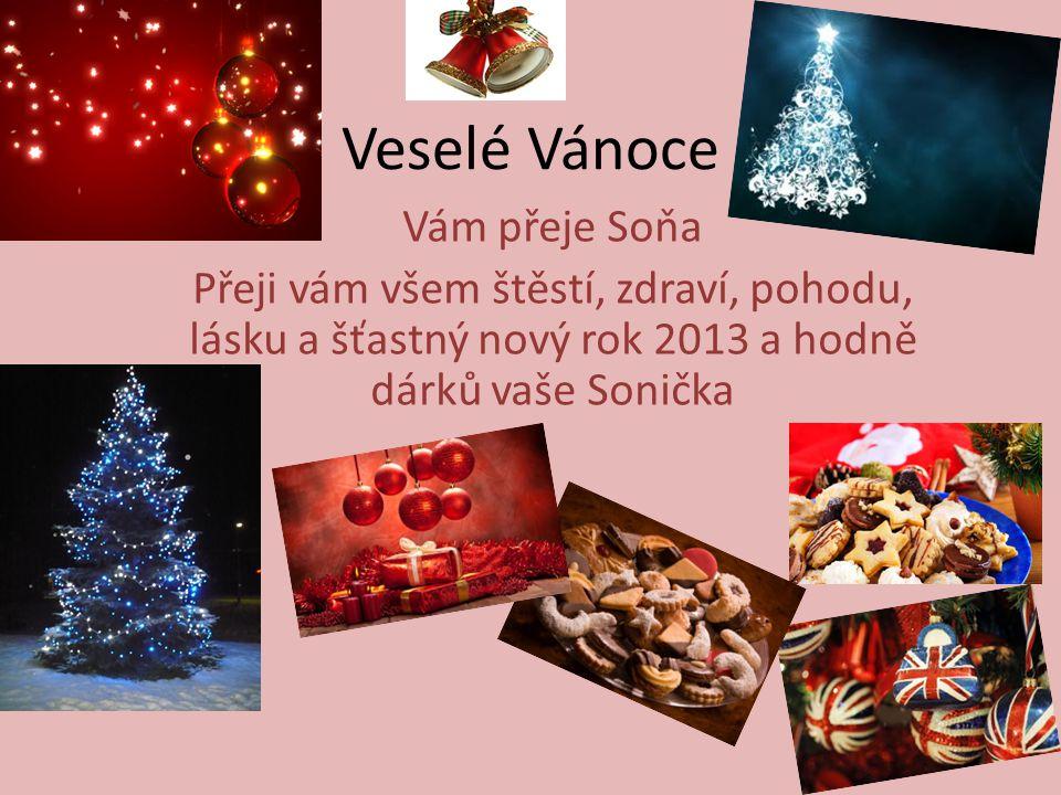 Veselé Vánoce Vám přeje Soňa
