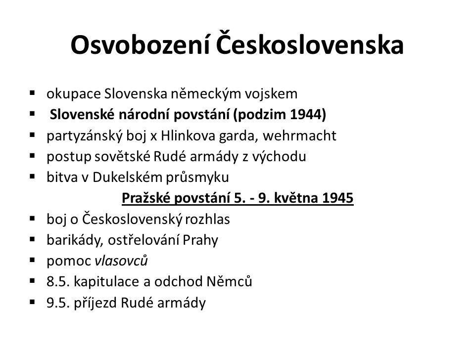 Osvobození Československa