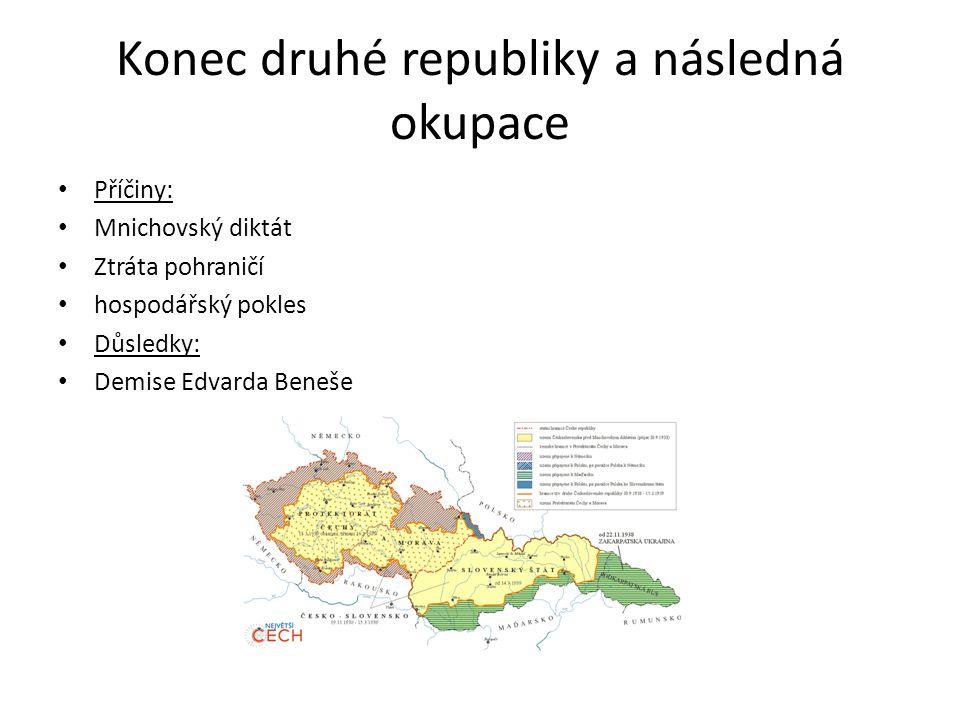 Konec druhé republiky a následná okupace
