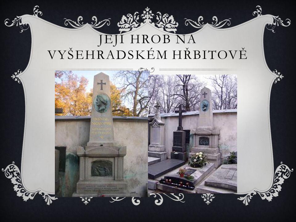 Její hrob na Vyšehradském hřbitově