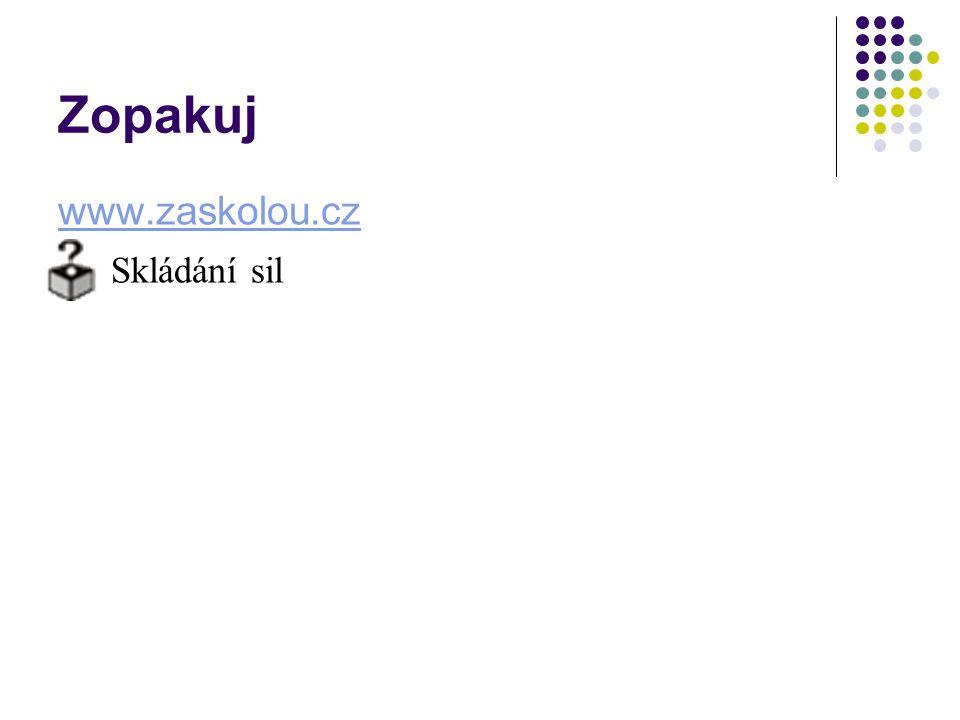Zopakuj www.zaskolou.cz Skládání sil