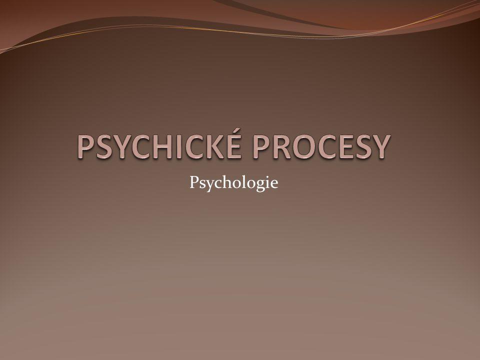 PSYCHICKÉ PROCESY Psychologie