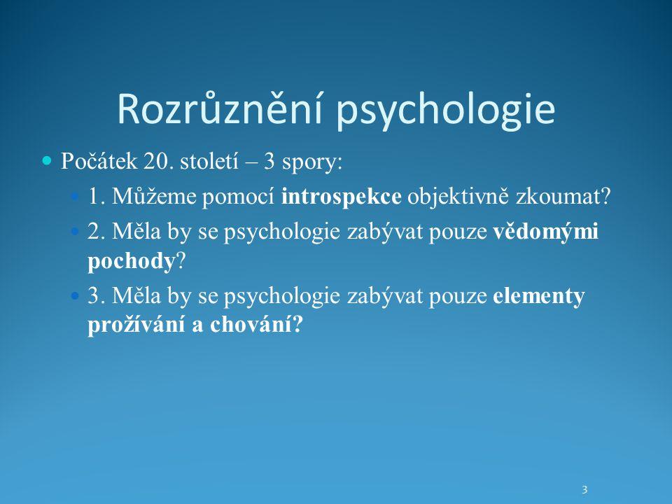 Rozrůznění psychologie