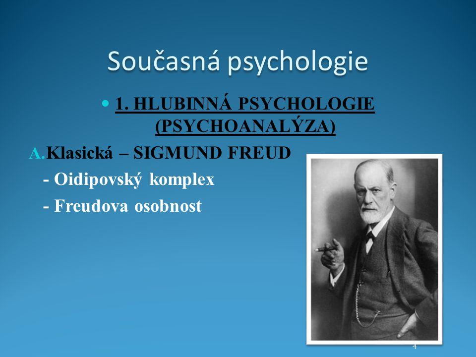 1. HLUBINNÁ PSYCHOLOGIE (PSYCHOANALÝZA)