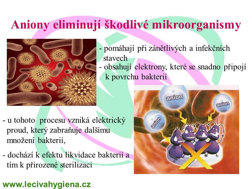 Aniony eliminují škodlivé mikroorganismy