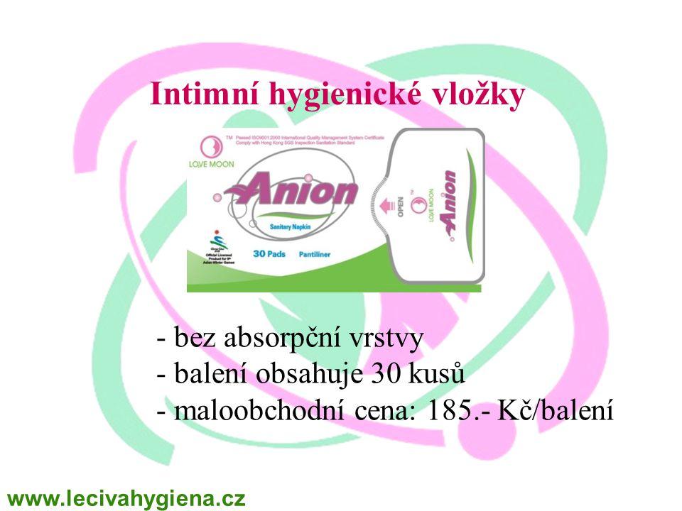 Intimní hygienické vložky
