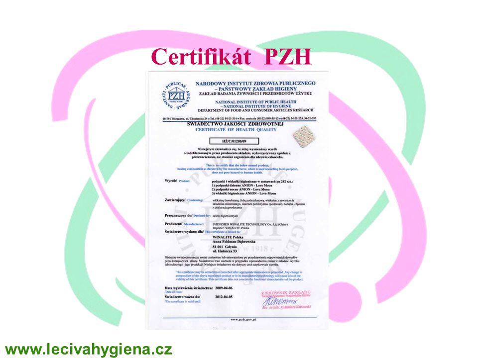 WINALITE Polska Certifikát PZH www.lecivahygiena.cz