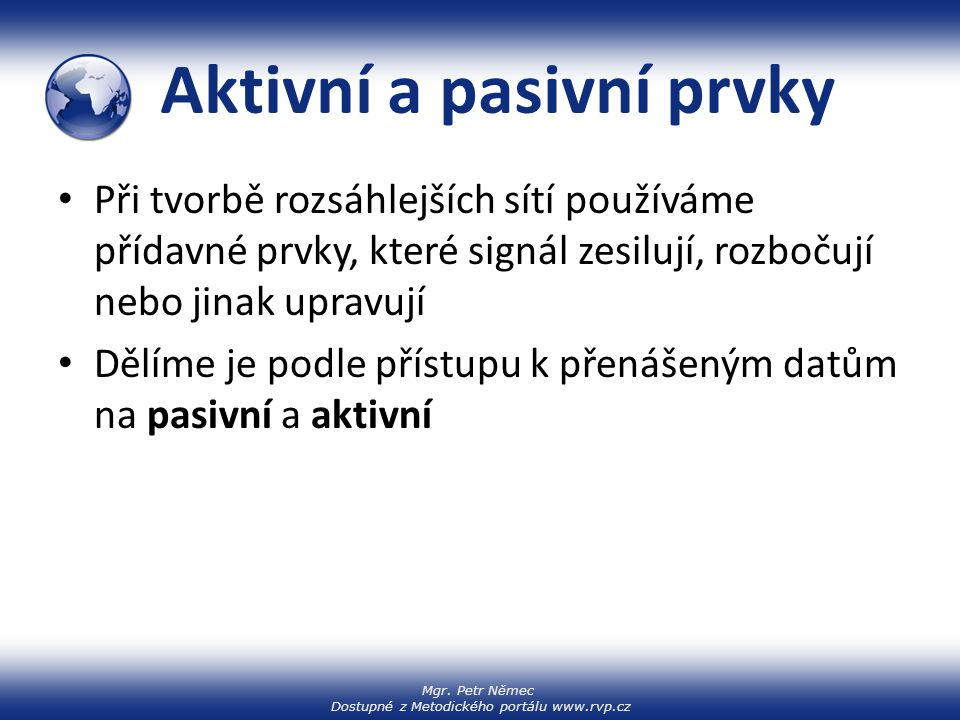 Aktivní a pasivní prvky