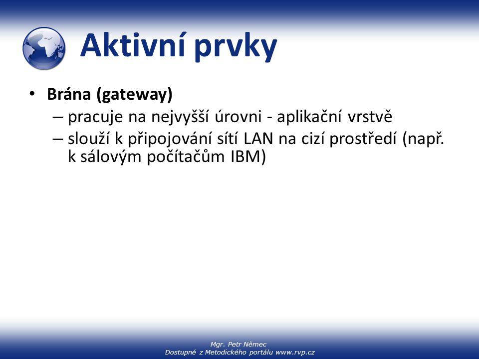 Aktivní prvky Brána (gateway)