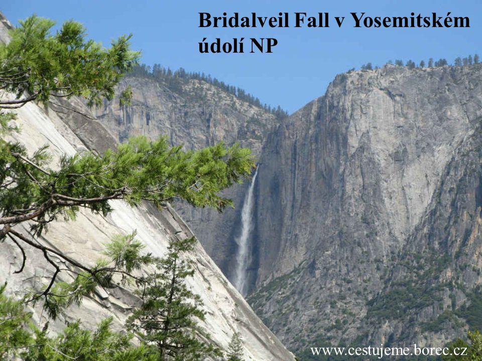 Bridalveil Fall v Yosemitském údolí NP