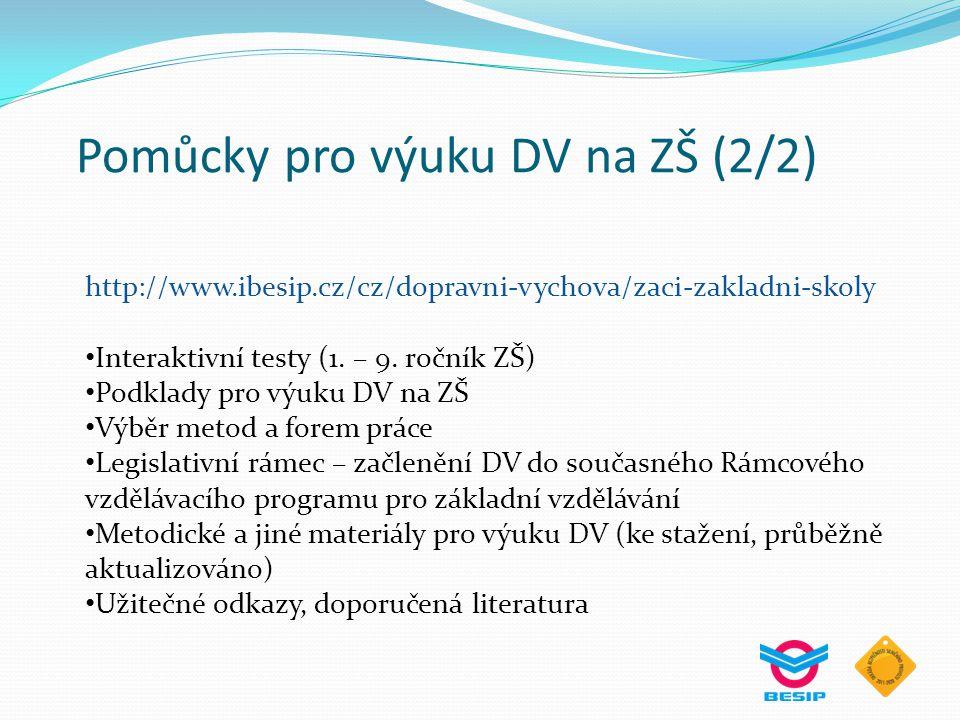 Pomůcky pro výuku DV na ZŠ (2/2)