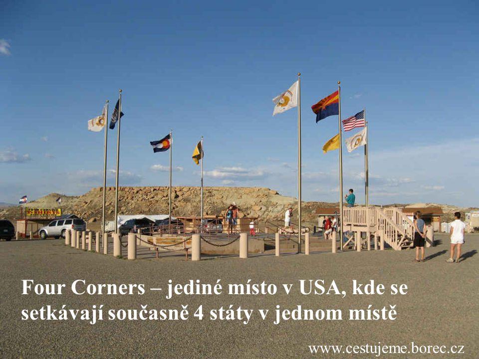 Four Corners – jediné místo v USA, kde se setkávají současně 4 státy v jednom místě