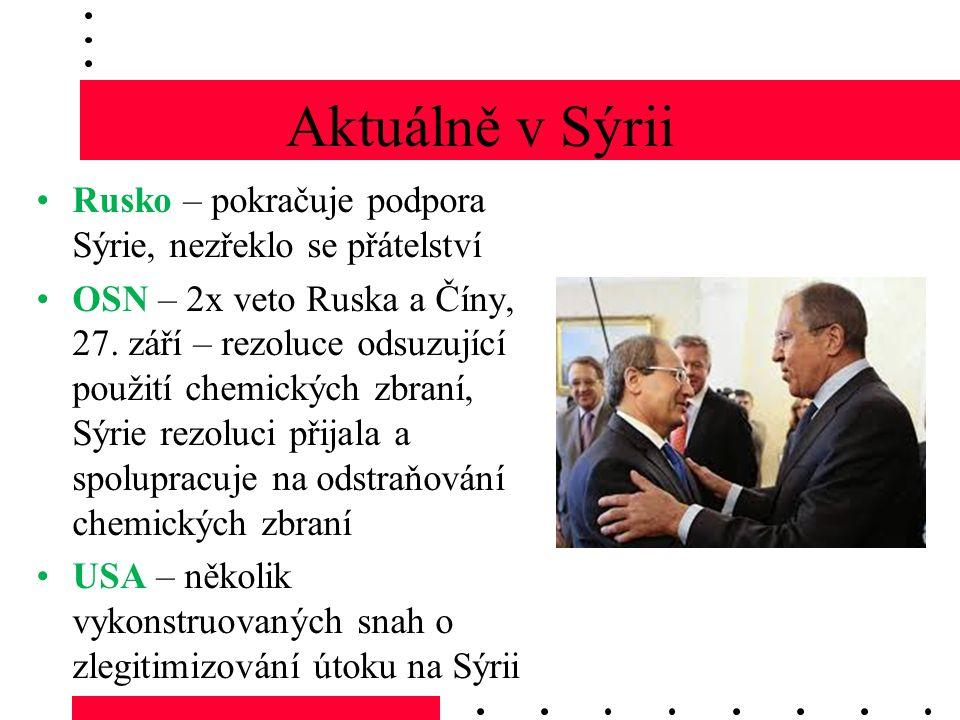 Aktuálně v Sýrii Rusko – pokračuje podpora Sýrie, nezřeklo se přátelství.