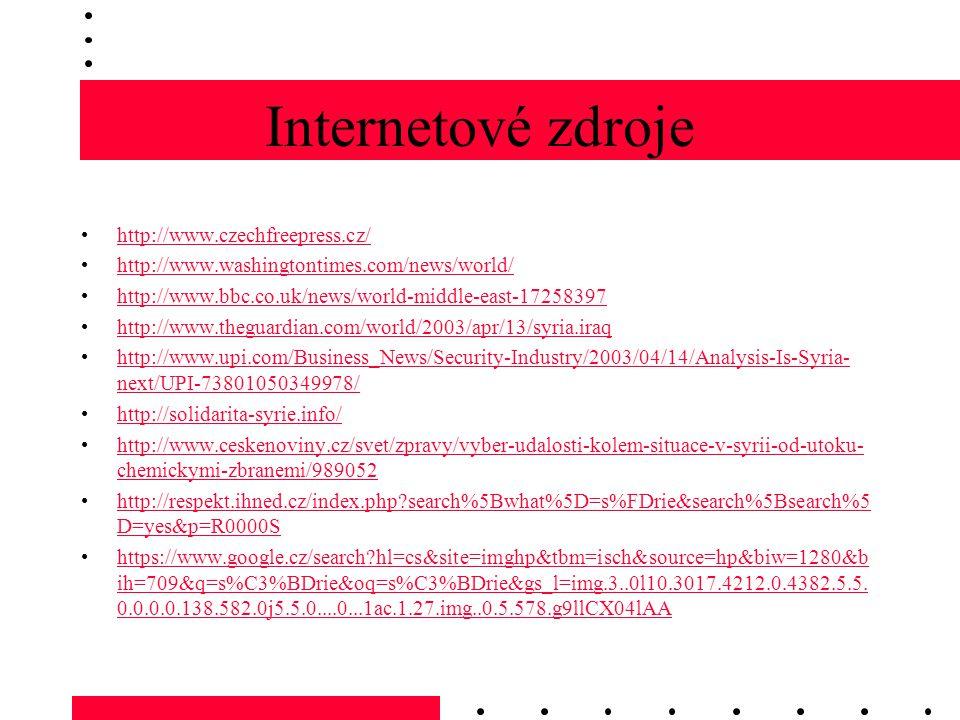 Internetové zdroje http://www.czechfreepress.cz/