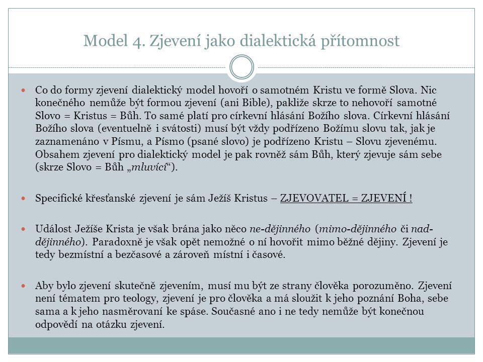 Model 4. Zjevení jako dialektická přítomnost