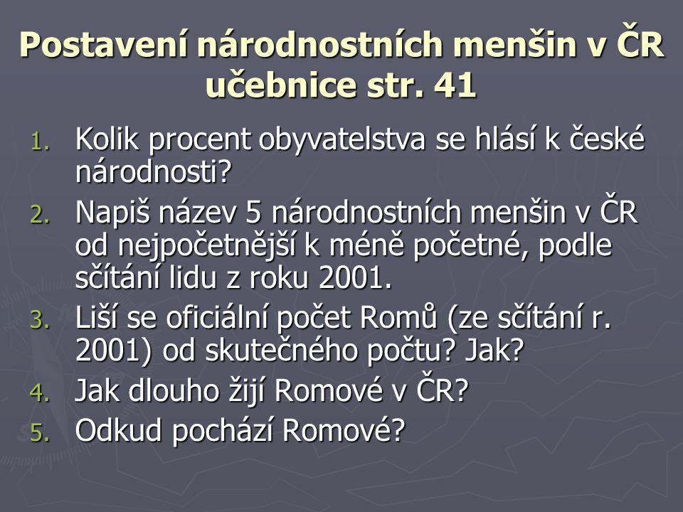 Postavení národnostních menšin v ČR učebnice str. 41