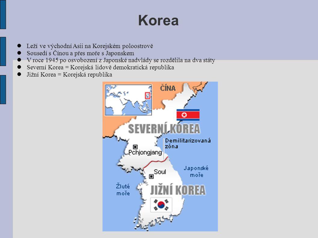 Korea Leží ve východní Asii na Korejském poloostrově