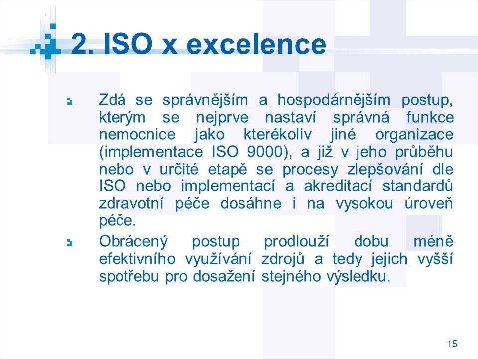2. ISO x excelence