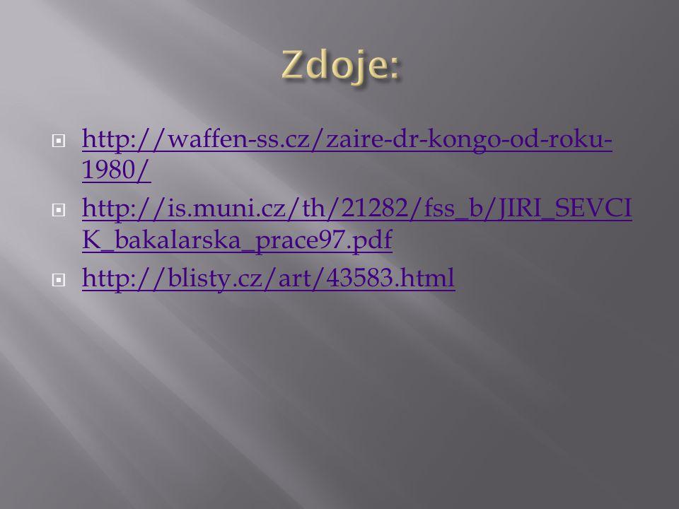 Zdoje: http://waffen-ss.cz/zaire-dr-kongo-od-roku-1980/