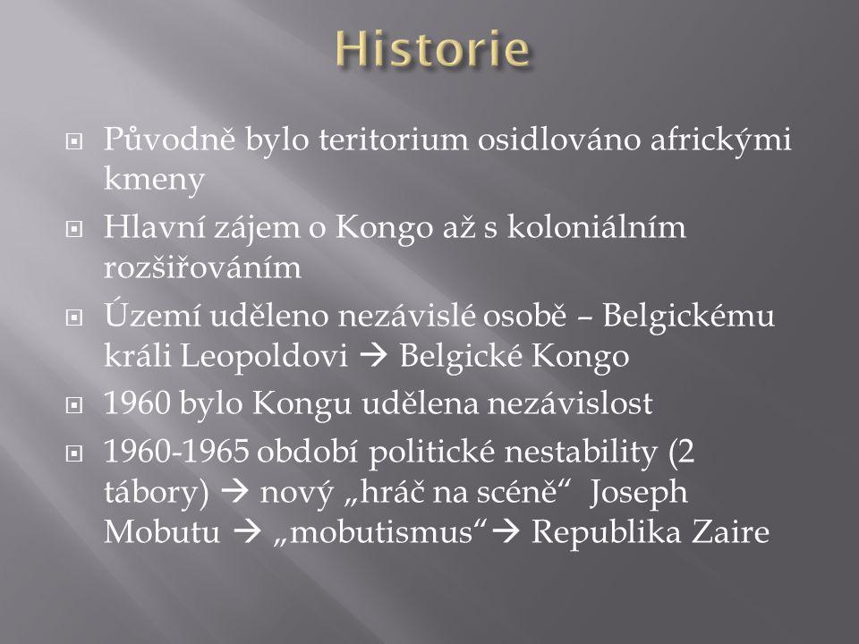 Historie Původně bylo teritorium osidlováno africkými kmeny