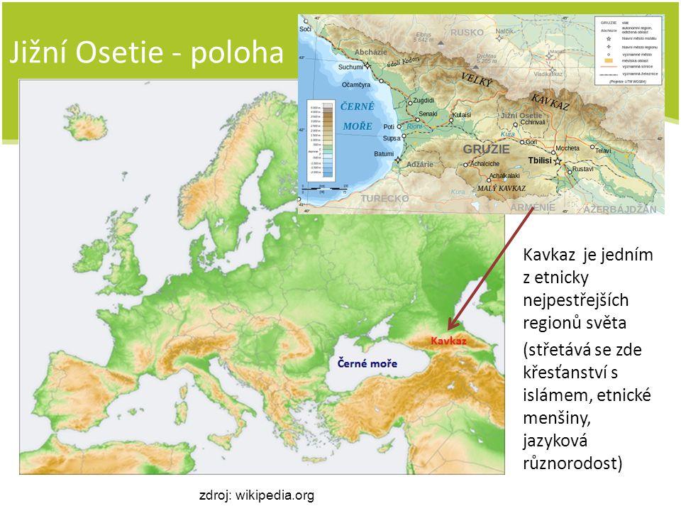 Jižní Osetie - poloha Kavkaz je jedním z etnicky nejpestřejších regionů světa.