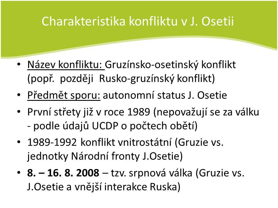 Charakteristika konfliktu v J. Osetii