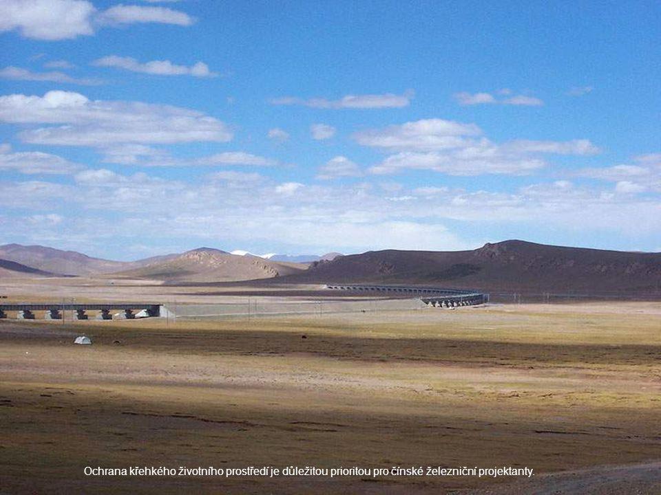 Ochrana křehkého životního prostředí je důležitou prioritou pro čínské železniční projektanty.