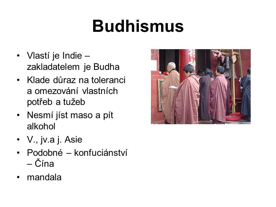 Budhismus Vlastí je Indie – zakladatelem je Budha