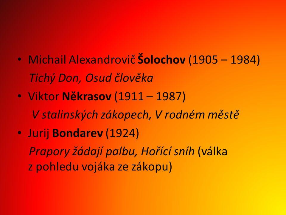 Michail Alexandrovič Šolochov (1905 – 1984)