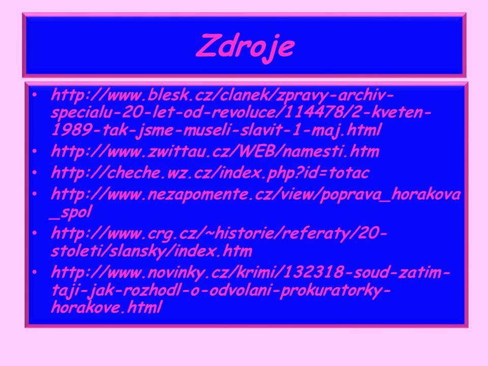 Zdroje http://www.blesk.cz/clanek/zpravy-archiv-specialu-20-let-od-revoluce/114478/2-kveten-1989-tak-jsme-museli-slavit-1-maj.html.