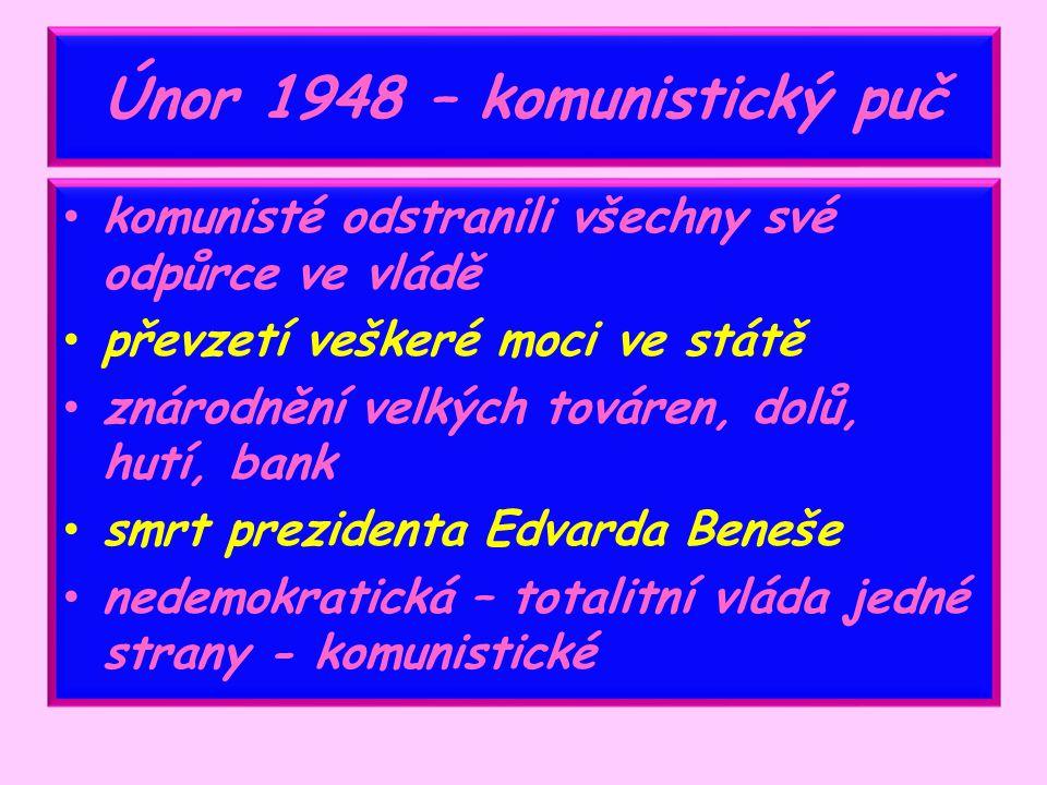 Únor 1948 – komunistický puč