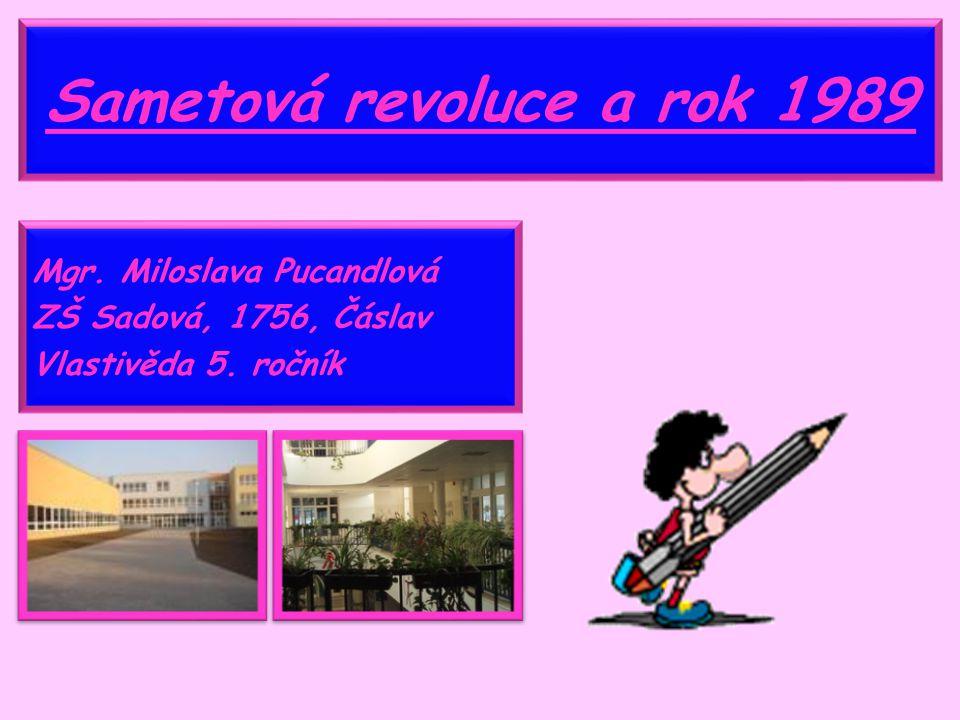 Sametová revoluce a rok 1989