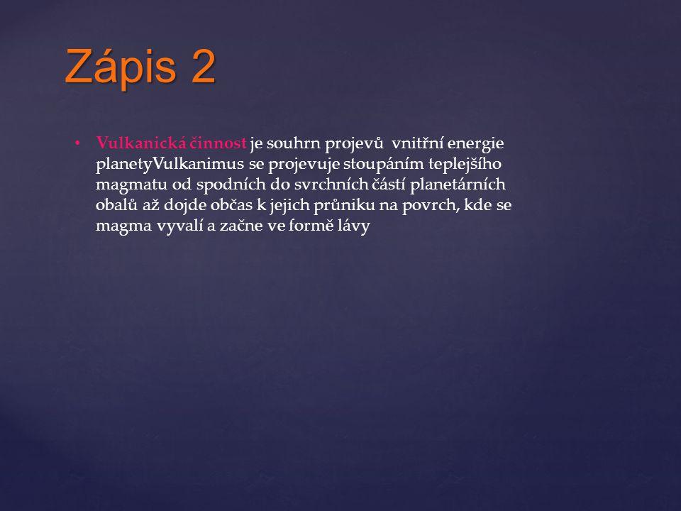 Zápis 2