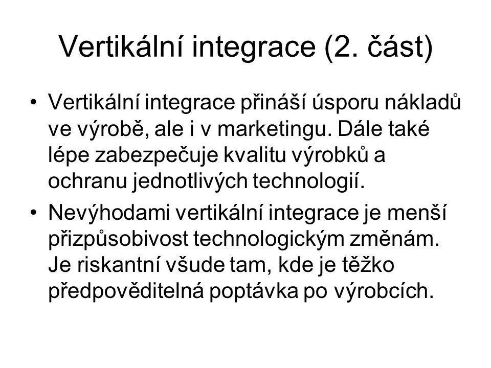 Vertikální integrace (2. část)