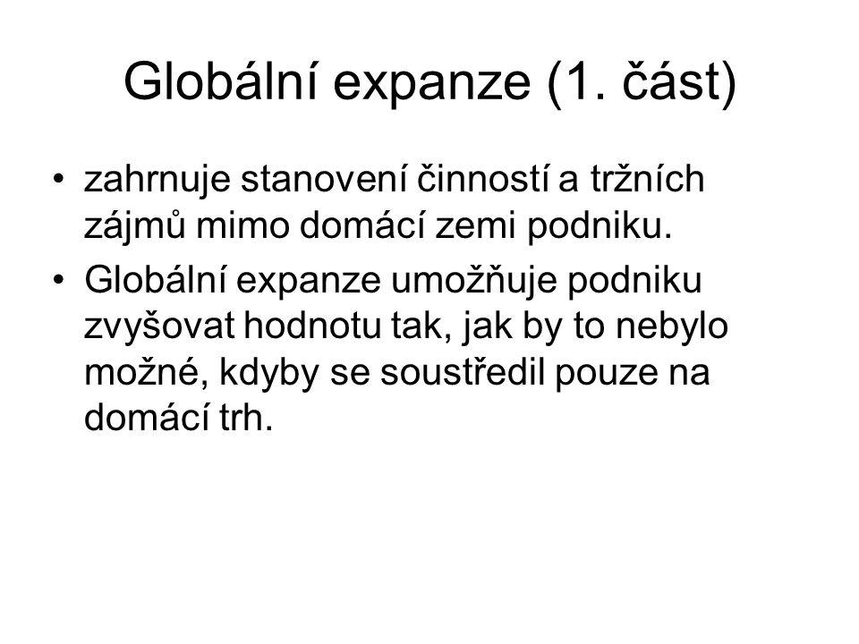 Globální expanze (1. část)