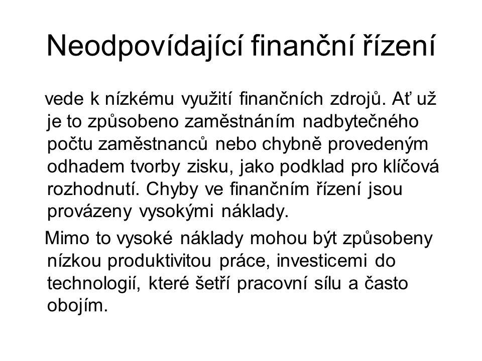 Neodpovídající finanční řízení