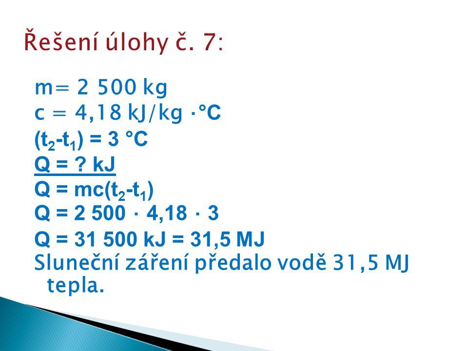 Řešení úlohy č. 7: