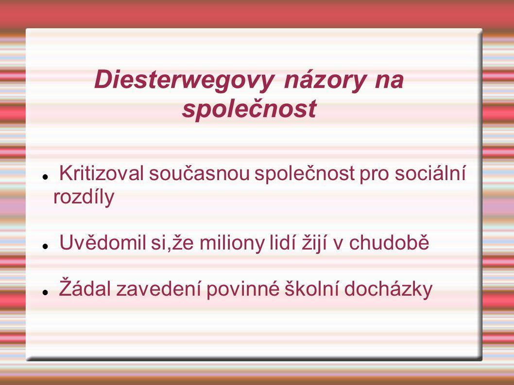 Diesterwegovy názory na společnost