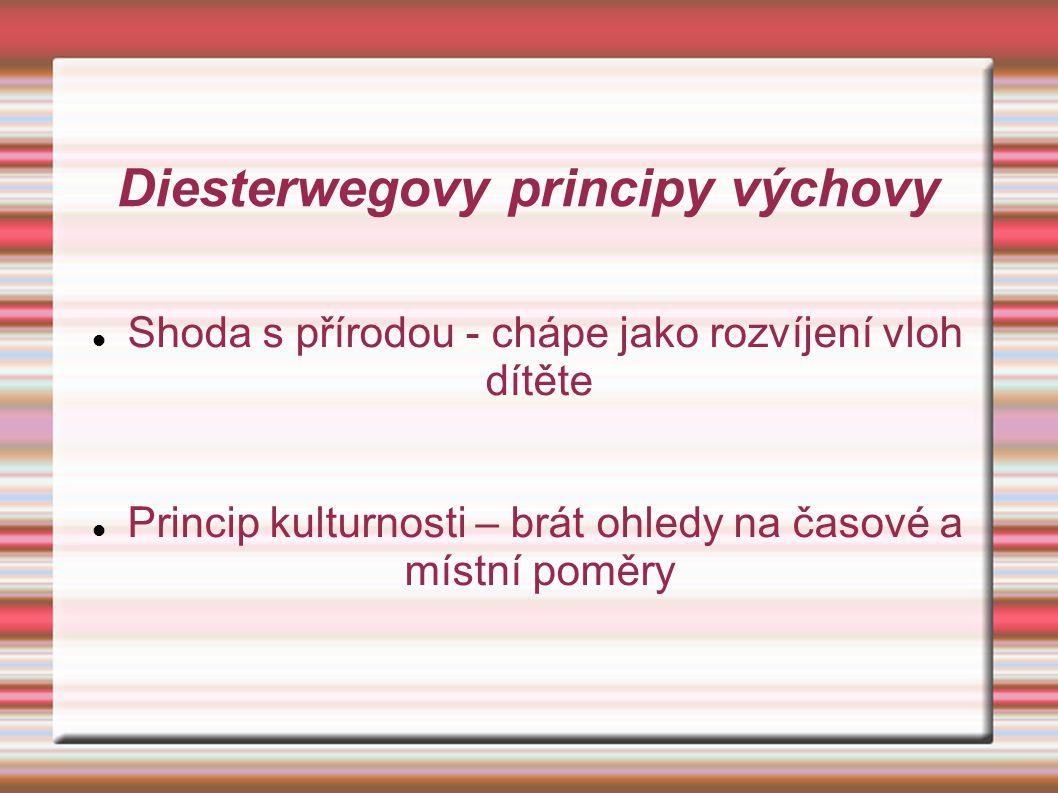 Diesterwegovy principy výchovy