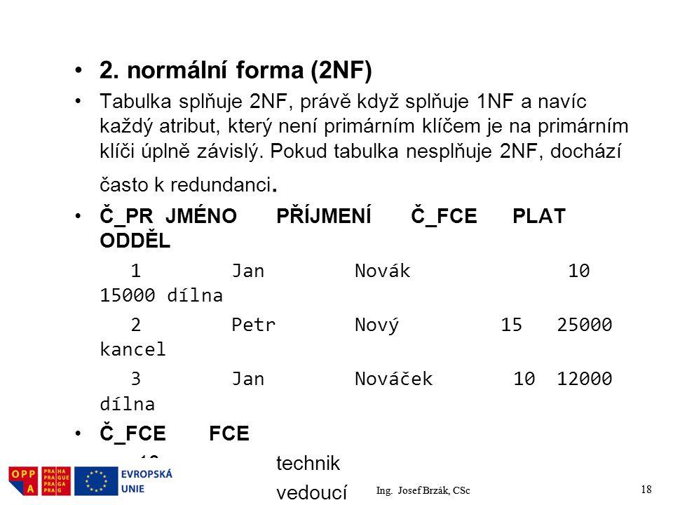 2. normální forma (2NF)