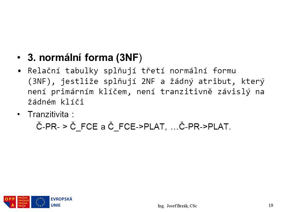 3. normální forma (3NF)