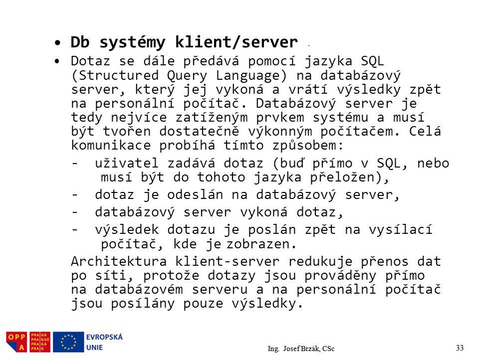 Db systémy klient/server -