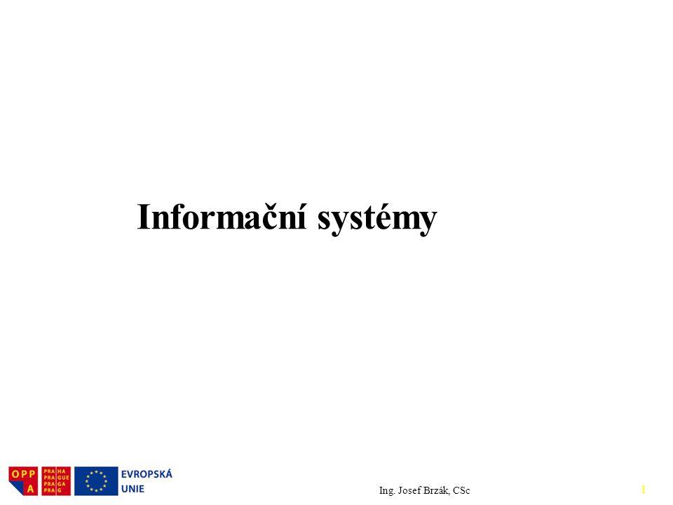 Informační systémy Ing. Josef Brzák, CSc logo.doc