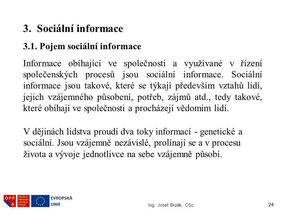3. Sociální informace 3.1. Pojem sociální informace