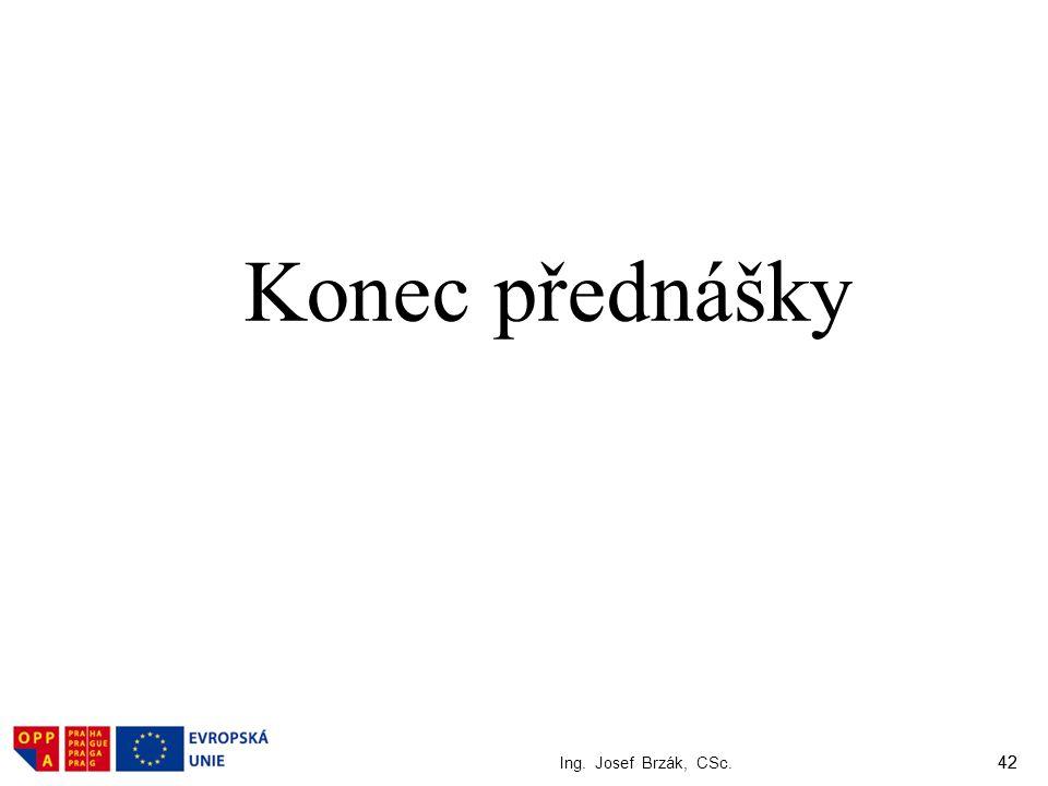 Konec přednášky Ing. Josef Brzák, CSc. 42
