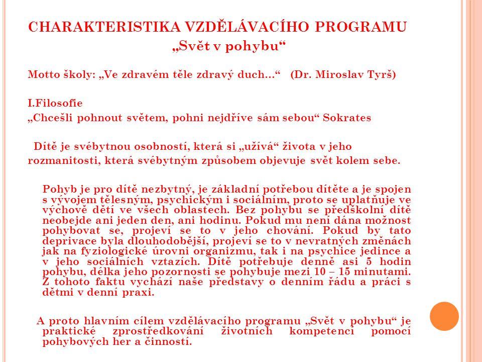 charakteristika vzdělávacího programu