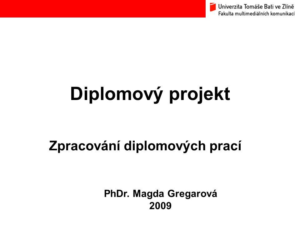 Zpracování diplomových prací