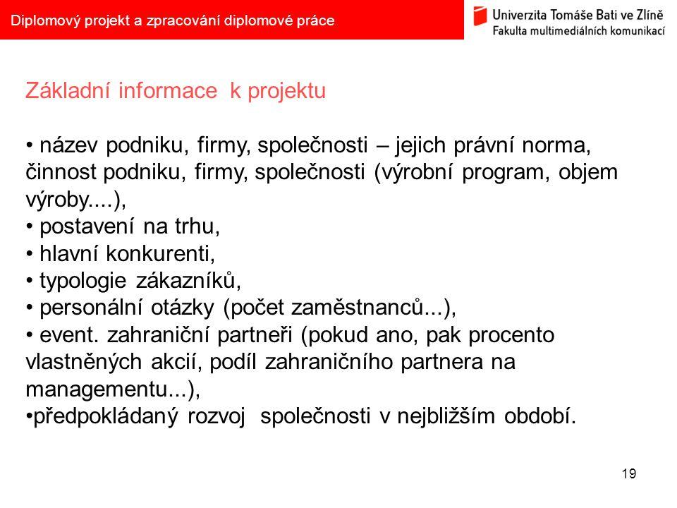 Základní informace k projektu