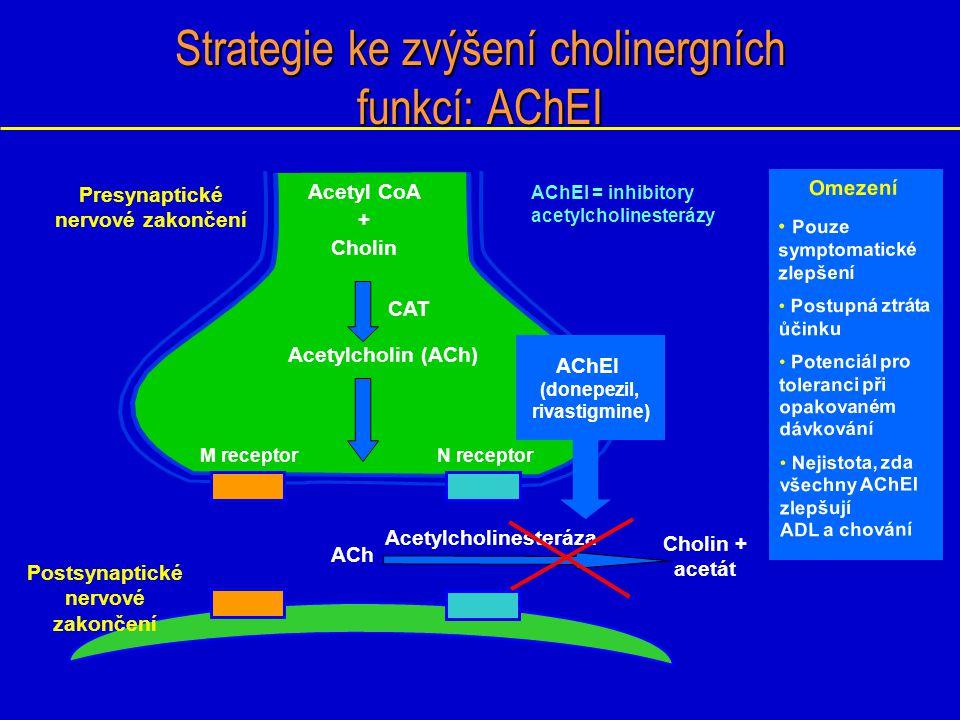 Kognitivní terapie Podávání prekurzoru acetylcholinu